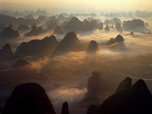 обои горы в китае